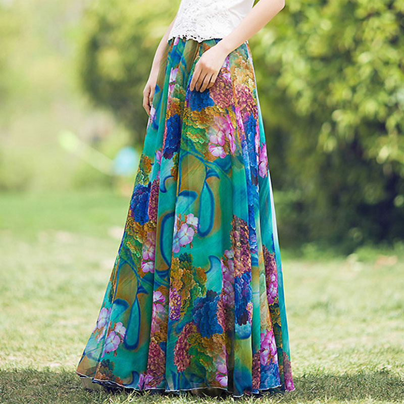 YUBKAVPOL / Длинная юбка в пол с цветочным принтом