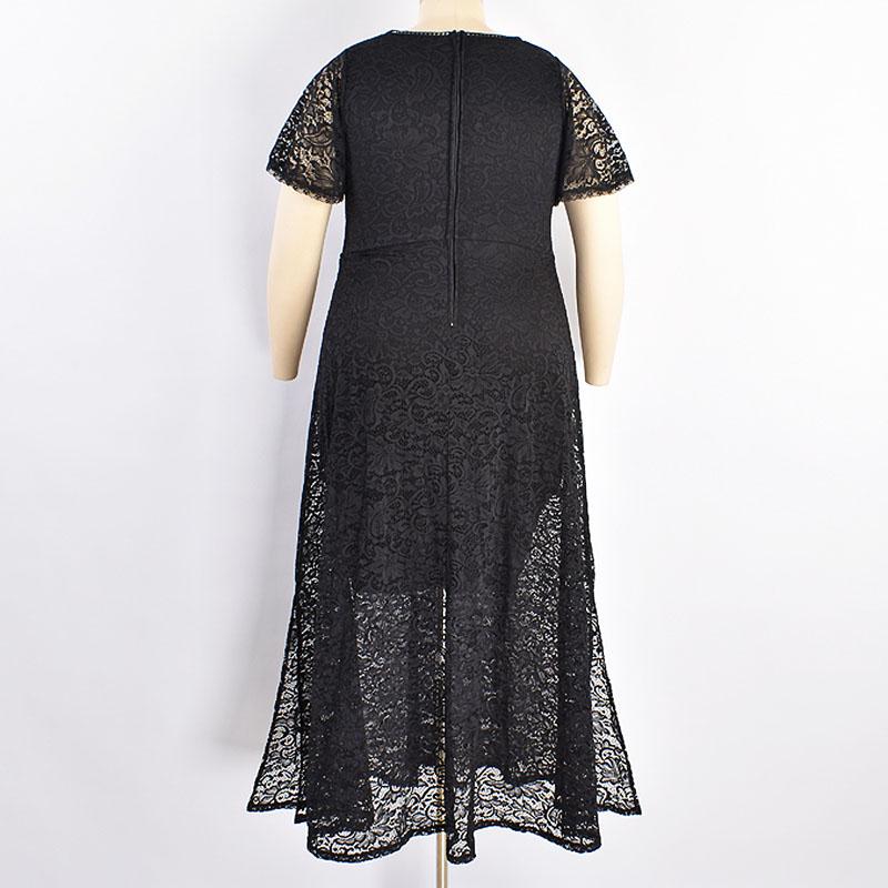 TORRID / Длинное платье из кружева черного цвета