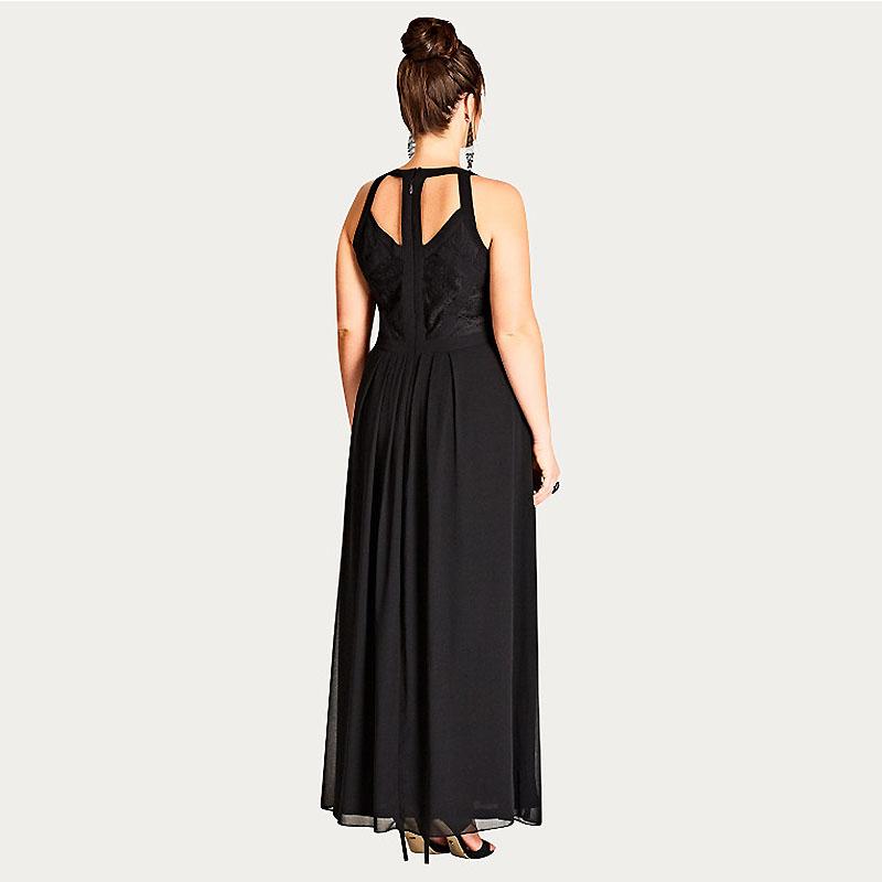CITY CHIC / Вечернее черное платье в богемном стиле