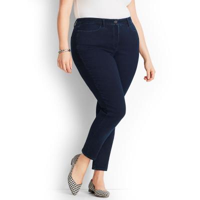 JOHN BANER / Женские джинсы скинни большого размера темно синие
