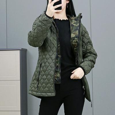 Reebok / ультра легкий спортивный пуховик женский милитари