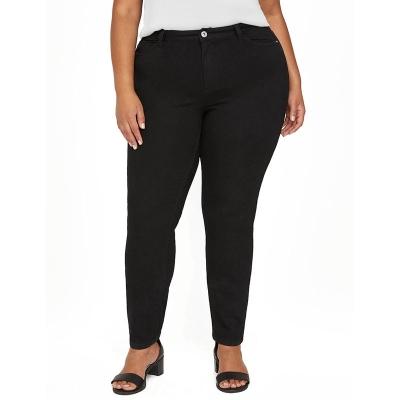 CATHERINES / Женские джинсы больших размеров с идеальной посадкой черные