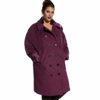 STUDIO UNTOLD / Бархатное пальто для полных женщин