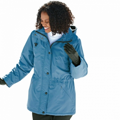 BLAIR / Парка для полных женщин морозное небо