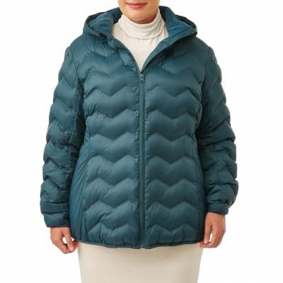 TimeandTru / Куртка для полных женщин цвета морской волны