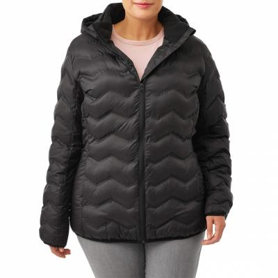 TimeandTru / Черная женская куртка большого размера