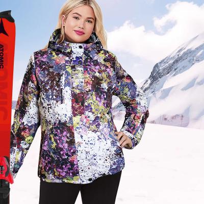 KALBORN / Лыжная женская куртка большого размера
