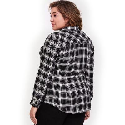 TORRID / Женская рубашка из вискозы в клетку большого размера