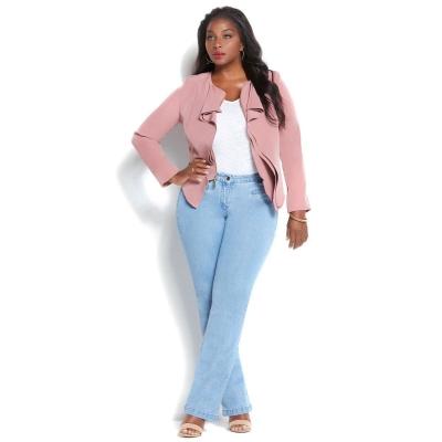 IMAN / Женские прямые джинсы большого размера голубые