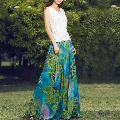 YUBKAVPOL / Длинная юбка в пол с принтом в богемном стиле