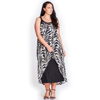 Платье макси комбинированное