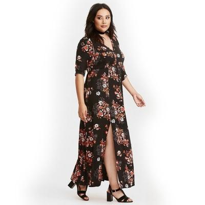 Платье макси из вискозы