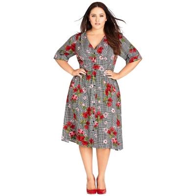 Платье миди из вискозы