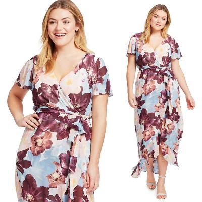 SANGRIA women's / Шифоновое платье макси с запахом