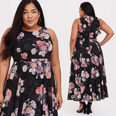 TORRID / Длинное платье из шифона для полных женщин и девушек