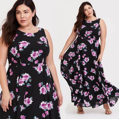 TORRID / Шифоновое платье макси с цветочным принтом