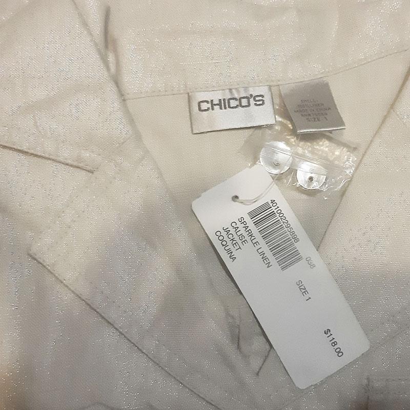 Chico's / Жакет-ветровка премиум класса с эффектом потертости